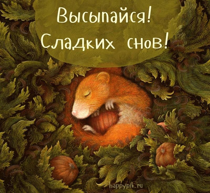 Открытка сладких снов мамуля