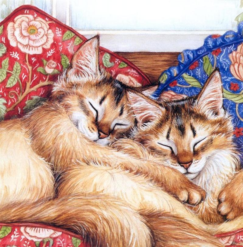 красивые рисунки котов и кошек пара умерла художнику