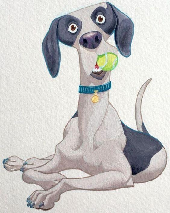 Картинки для, собака рисунок смешные